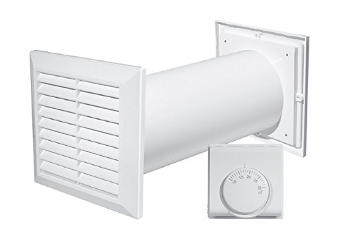 Turbina de distribución de aire caliente 4 en 1, con ventilador, termostato accesorios