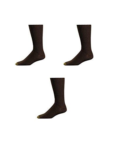 Gold Toe Herren Fluffies Baumwolle Crew Socken (3Stück) Gr. One size, braun - Gold Toe Crew Sport Socken