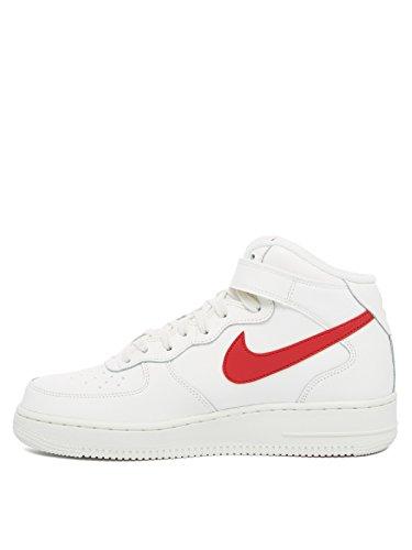 Nike Air Force 1 Mid 07, Scarpe da Ginnastica Uomo sail/red