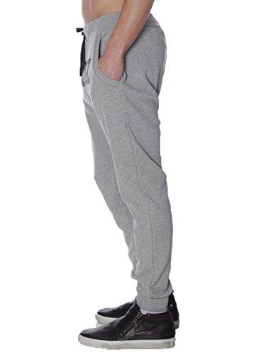 Pantalone Pyrex in Felpa Garzata 28314 Made in Italy MainApps Grigio Medio
