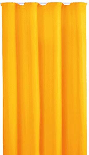 Bestlivings Blickdichte Gardine mit Kräuselband (140x175 cm/Orange), in vielen Variationen