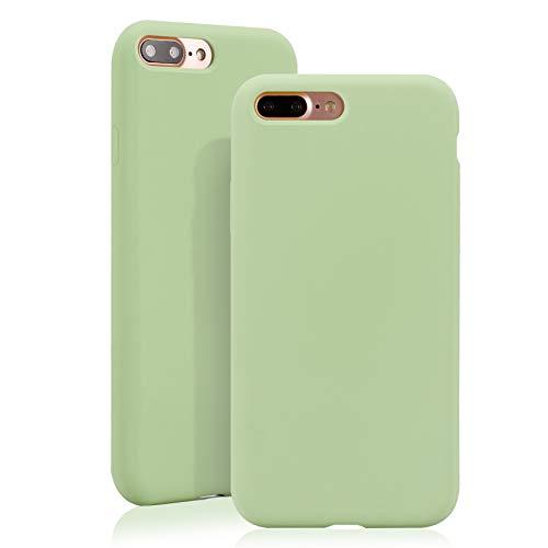 JMi [ Kompatibel mit Apple iPhone 7 Plus / 8 Plus, in Mint Grün Originale Silikonhülle - Hochwertig, perfekte Verarbeitung - Schlichtes Silicone Case Iphone Silicon Case