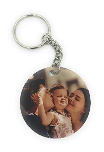 Saphirdesign Rundes Schlüsselanhänger aus Metal mit Wunschmotiv, Bild oder Logo. Geeignet als Werbe-Erinnerungs-Geschenk. Das perfekte...