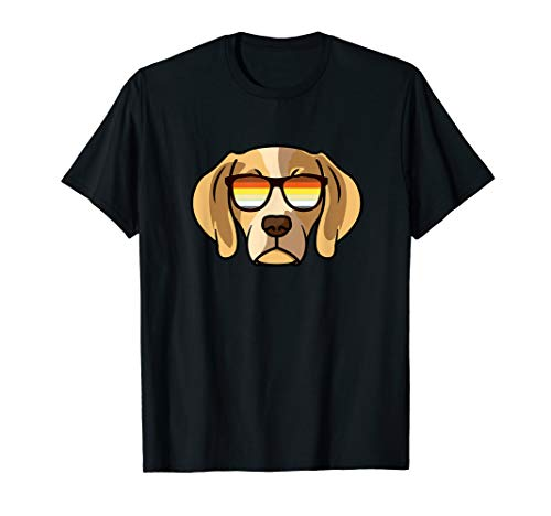 Gay Beagle mit Sonnenbrille - Cute Gay Pride Dog T-Shirt