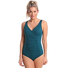 4ab3c1941dcfc Halocline Ava Longer Length One Piece Swimming Swimsuit - Teal