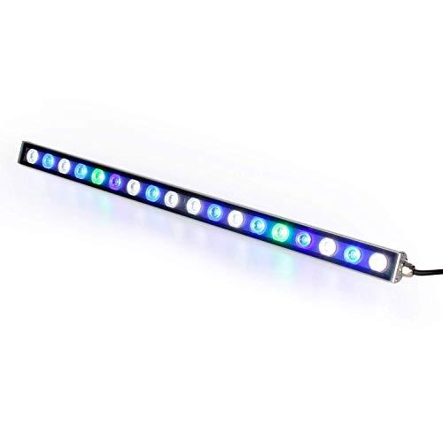 Roleadro Aquarium LED 54W 55CM Wasserdicht Aquarium Licht,18 LEDs Aquarium Lampe Avec Blau Weiß und UV Aquarienbeleuchtung für Reef/Coral/Pflanzen