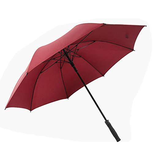 Golf Umbrella Wide Double Canopy Ventilation Automatic Opening Super Large Super Waterproof Sunscreen Regenschutz wetterfest Umbrella Black Red Blue,Red