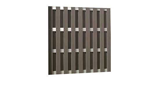 TrendLine Sichtschutzelement WPC grau 180 x 180 cm Alu Querstrebe Sichtschutz