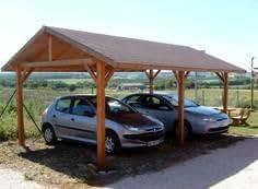 Carport en bois double pente KARPA 22m² Avec montage