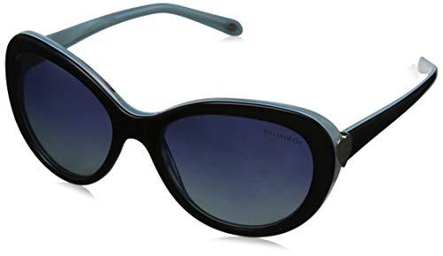 Tiffany & Co. Unisex TF4113 Sonnenbrille, Schwarz (Black/Blue 81934U), One size (Herstellergröße: 55)