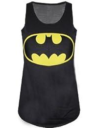 Nieuwe dames vrouwen Batman Logo Comic Superhero Vest Tank Top Maat 8-14