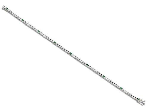 Tennis Armband Weißgold 18KT und Diamanten-und Emerald 1,69 CT ARMBAND Luxus Hochzeitsgeschenk für ihn Geschenk für ihre Hochzeits-Armband UNISEX MARIKA GIOIELLI MADE IN ITALY