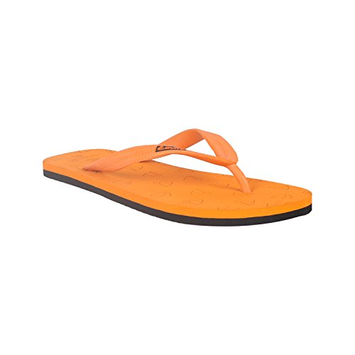 Duke Men's Orange & Black Coloured PVC Slippers 7  available at amazon for Rs.250