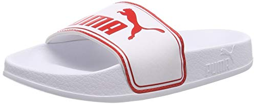 Puma Leadcat PS, Scarpe da Spiaggia e Piscina Unisex - Bambini, Bianco White-High Risk Red, 31 EU