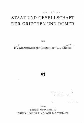 Staat und Gesellschaft der Griechen und Römer