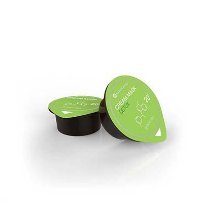 Cmagic® masque visage hydratant et detox, elimine les impuretées, enrichis aux extraits de thé vert, Lot de 3 dosettes de 10ml