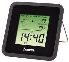THERMO-HYGROMETER, DIGITAL, DESK, BLK TH-50 BLACK By HAMA