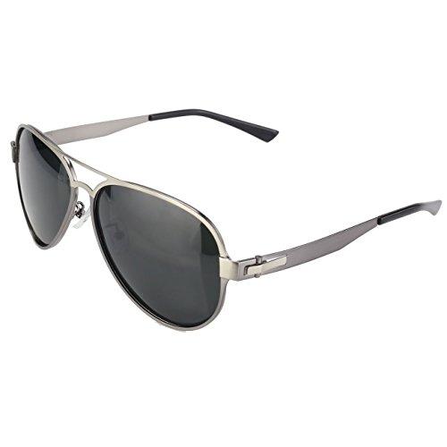 DUCO Premium Flexible Größe Aviator Stil Polarisierte Sonnenbrille 100% UV Schutz 3028