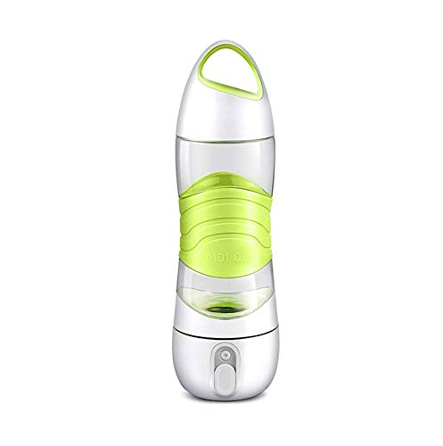 XXD Sport Wassertasse, Tragbare Sprühflasche, Intelligente Erinnerung, Einfach Zu Bedienen, Jederzeit Feuchtigkeitsspendend, Geeignet Für Alle Arten Von Outdoor-Aktivitäten,Grün -