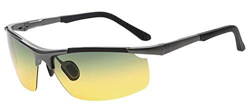 Eyekepper Halbrand Tag/Nacht-Fahr Aluminium polarisierte Sonnenbrille
