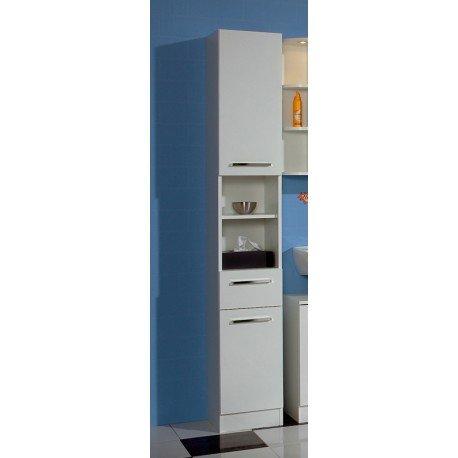 AVANTI TRENDSTORE - Blanco - Armadio a colonna da bagno, in laminato di colore bianco, dimensioni: LAP 30x195.5x33 cm