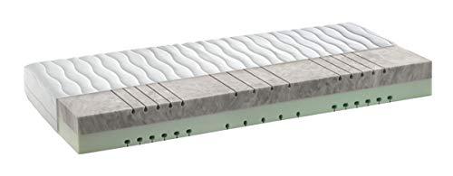 snoozo 7-Zonen HRX-Kaltschaum Matratze - 2in1 wendbare Liegehärten H3&H4 - mittelfest & Fest - ca. 21 cm - Bezug Waschbar bis 60 Grad (140 x 200 cm)