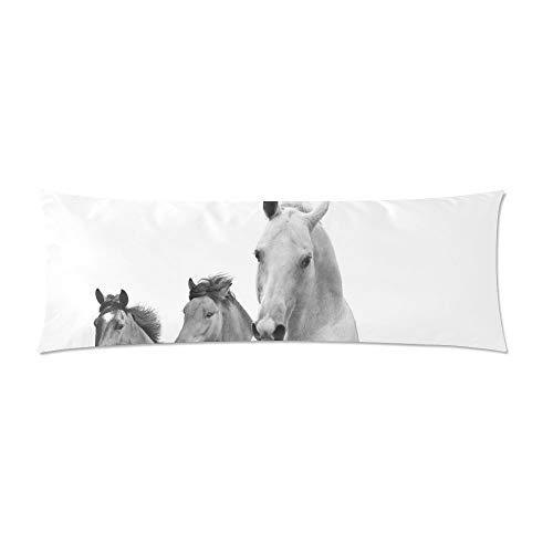 CiCiDi Seitenschläferkissen 40 x 145 cm Pferd Lange Körper Kissenbezug Kissenbezug Pillowslip Maschinenwäsche mit Reißverschlüssen Mutterschafts- / Lange Kissenbezug -