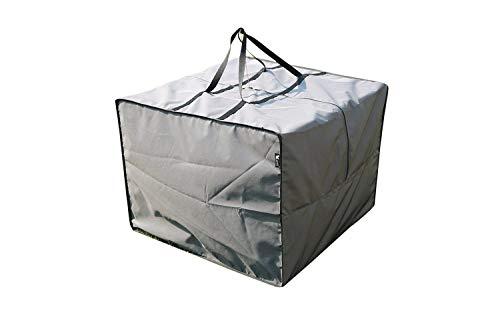 SORARA Aufbewahrungstasche/Cover für Loungekissen   Grau   80 x 80 x 60 cm (L x B x H) Schutzhülle Semi-Wasserabweisend   Polyester   für Outdoor Garten Möbel -