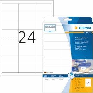 HERMA Tiefkühletiketten weiß 66x33,8mm Special A4 VE=600 Stück