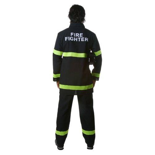 Imagen de dress up america  disfraz de bombero para adultos, talla l, color negro 340 l  alternativa