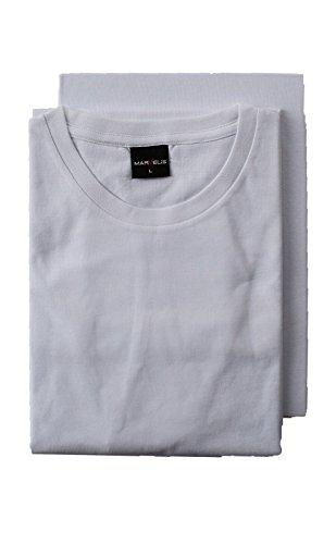 Marvelis Doppelpack T-Shirts Rundhals weiß Weiß