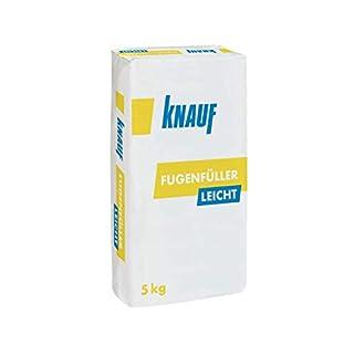Knauf Fugenfüller leicht zum Verspachteln von Gipsplatten mit HRK/HRAK, mit Fugen-Deckstreifen, 5 kg – Gips-Spachtel, sehr ergiebige Füllspachtel-Masse
