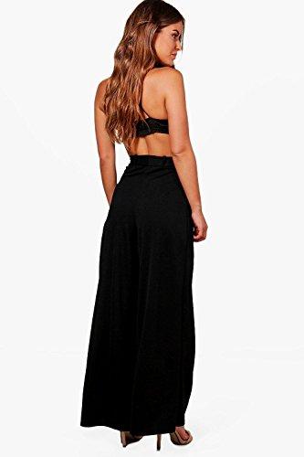 Femmes Noir petite laila pantalon large noué à la taille Noir