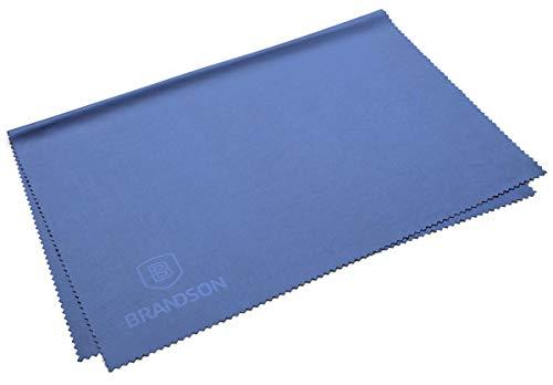 Brandson Brillen-Putztuch extra groß, 30 x 40 cm, waschbar, Mikrofaser Reinigungstuch für Display, Tablet, Smartphone, TV, etc. (1 Stück, 30x40 cm, blau)