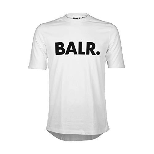 BALR. Klassisches Männer Brand T-Shirt mit Athletic Fit aus hochwertiger Baumwolle - Weiß - XL - Luxus-shirt Aus Baumwolle