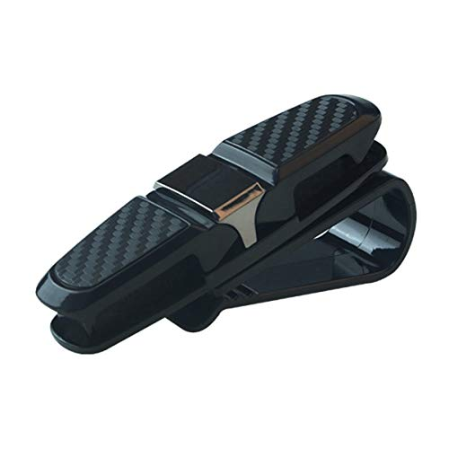 Leoboone Gugutogo Portable Universal Fastener Clip Eyeglasses Clip Ticket Card Clamp ABS Car Glasses Cases Car Sun Visor Sunglasses Holder