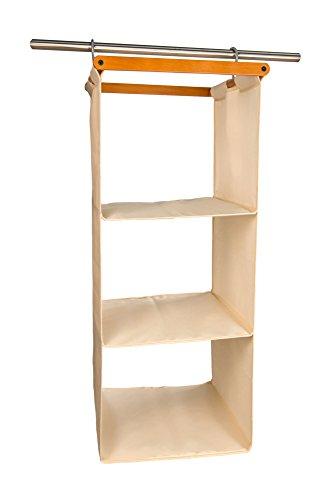 Arredamenti italia organizzatore per armadio space 3, legno - 3 ripiani - finitura ciliegio