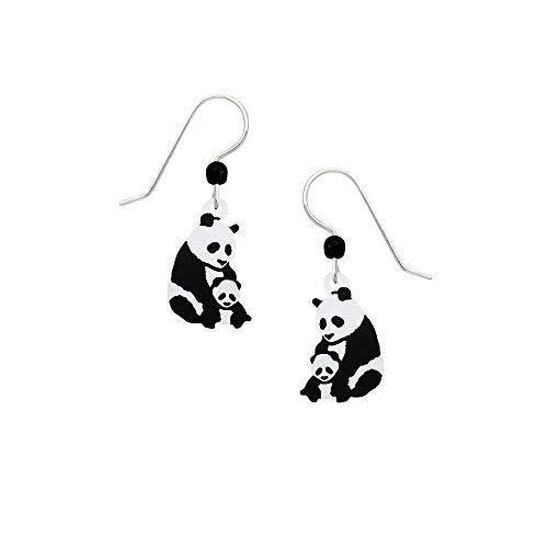 Artisan Sienna Sky Mutter und Baby Panda Bär Ohrringe mit Geschenkbox -