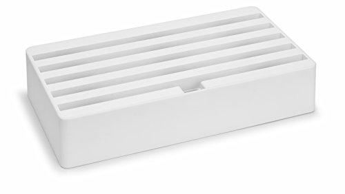 All-Dock Ladestation - Large - Universal Shell+Top, 6fach USB Hub - Weiß / matt gummiert Shell Usb