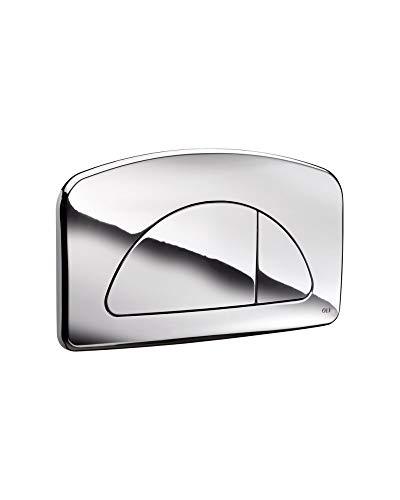 Placa doble caja empotrable diamante cromado 627004 aceites