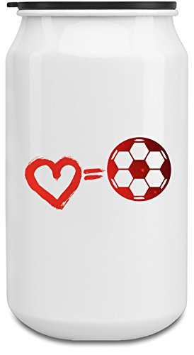 love-equals-football-botella-de-350ml-de-latas-de-aluminio