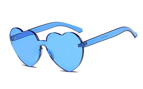 RENMEN Damen Sonnenbrille Love Heart Shaped Sonnenbrille Damen Double Heart Heart Fashion Sonnenbrille UV400, 007