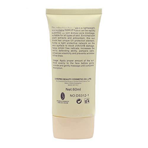 Facial Sun Care (Facial Body Sunscreen Cream Oil-control SPF 50 Foundation Effect UV Radiation Sun Protective Sunblock Cream Beauty Skin Care)