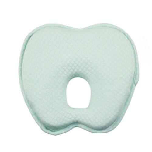 by Kissen Baby Neugeborene SchutzkopfSäuglingskissen Memory Foam Positionierer Flat Head Verhindern Anti Roll, 24.5x24x3.5cm (Grün) ()
