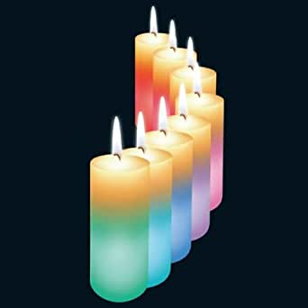 La bougie magique Couleur Changeante 20 Hour Cylinder Shaped Magic Candle