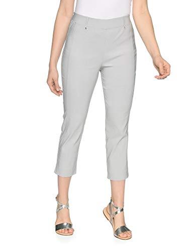 Bexleys by Adler Mode Damen Bengalin-Hose in 3/4 Länge - Stoffhose, Businesshose, Stretchhose, Sommerhose - auch in Kurzgrößen erhältlich Silbergrau 21 -