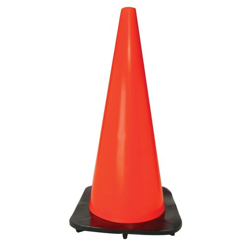 Bon 14-103 18-Inch Bright Fluorescent Safety Traffic Cone with Weighted Base by BON