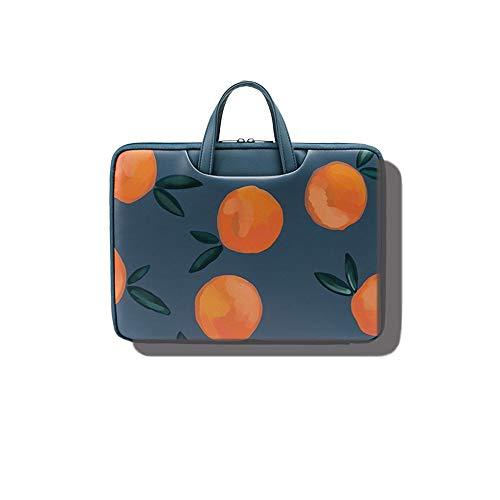 Laptop-Rucksack, Laptop-Tasche, geeignet für Damen, süßes und frisches Design (15,7/16,9/18,2/19,5/13,3/15,6 Zoll) (Color : Orange, Size : 15.7inch)