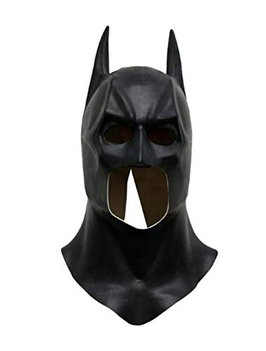 Hpybest Batman Masken Realistische Halloween Full Face Latex Batman Muster Maske Kostüm Party Masken Karneval Cosplay Requisiten (Batman Kostüm Maske)