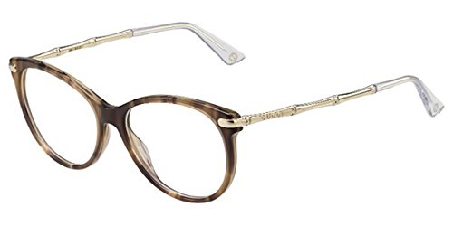 Gucci BWNHORN GOLD WITH DEMO LENS LENS